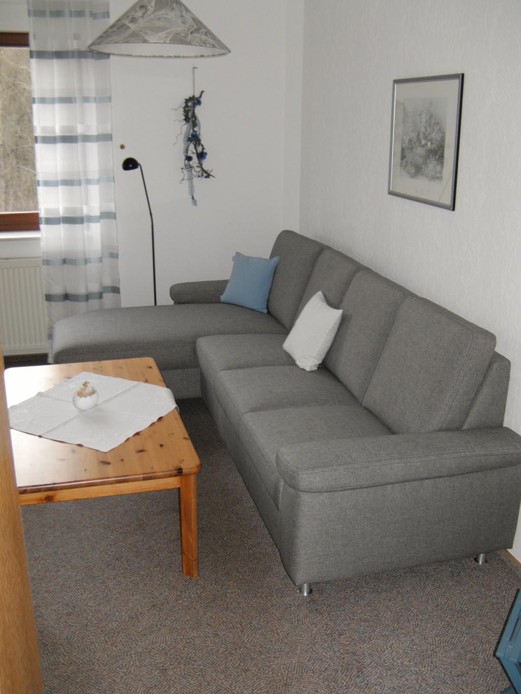 Ferienwohnung Haus Bergblick Am Edersee Gemütliches Sofa